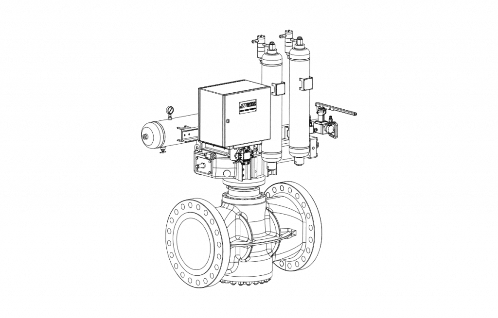 Plug Valves - E10D Technical Drawing - Vastas