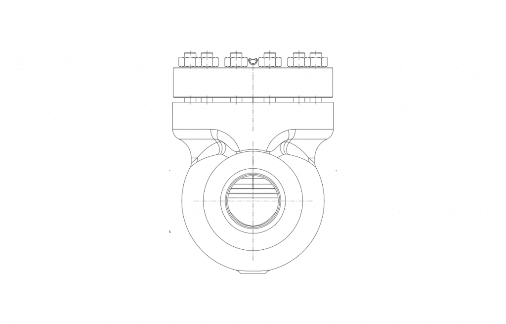 Compact Forged Valves - E305 Technical Drawing - Vastas