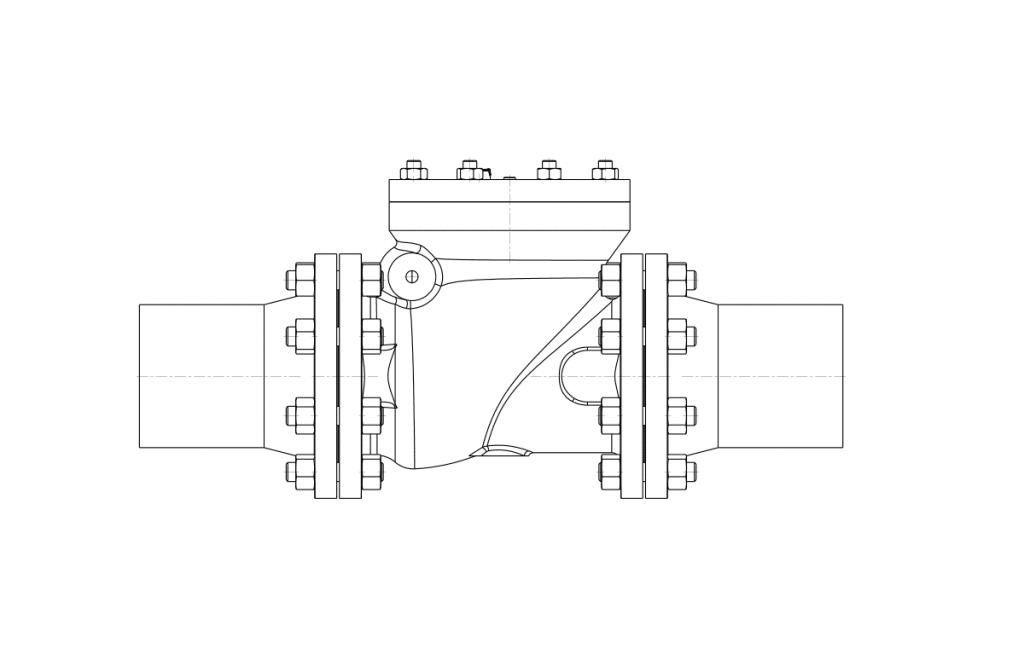 Check Valfler - E400 Teknik Çizim - Vastaş