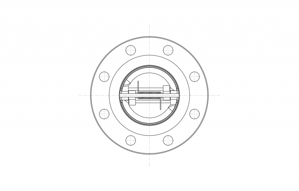 Check Valves - E40D Technical Drawing - Vastas