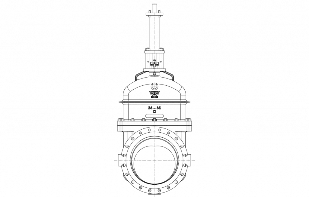 Gate Valves - E500 Technical Drawing - Vastas