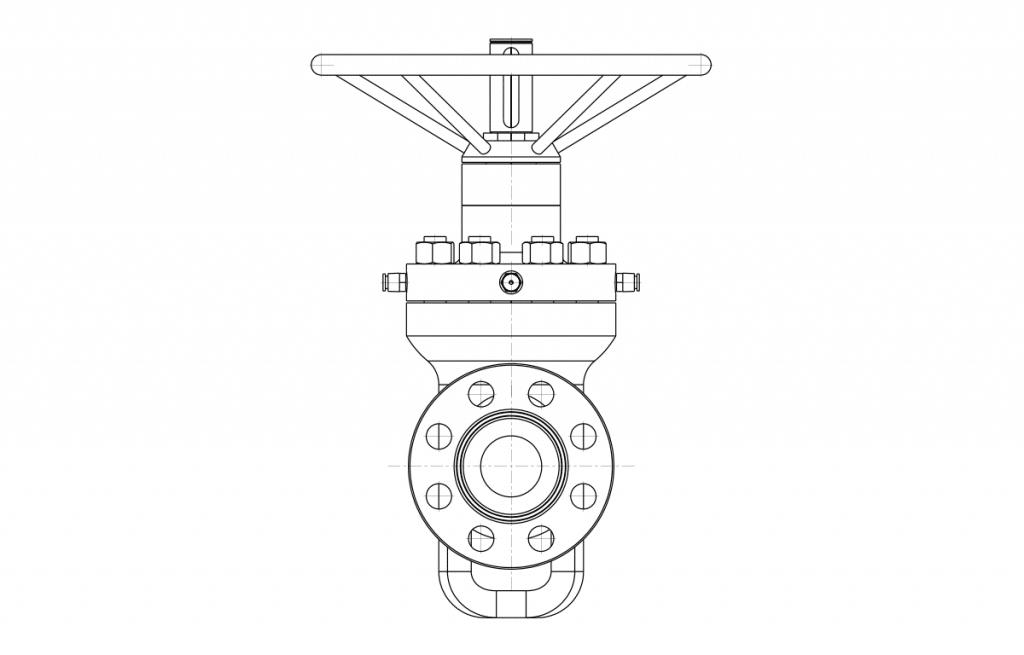 Gate Valves - E50A Technical Drawing - Vastas