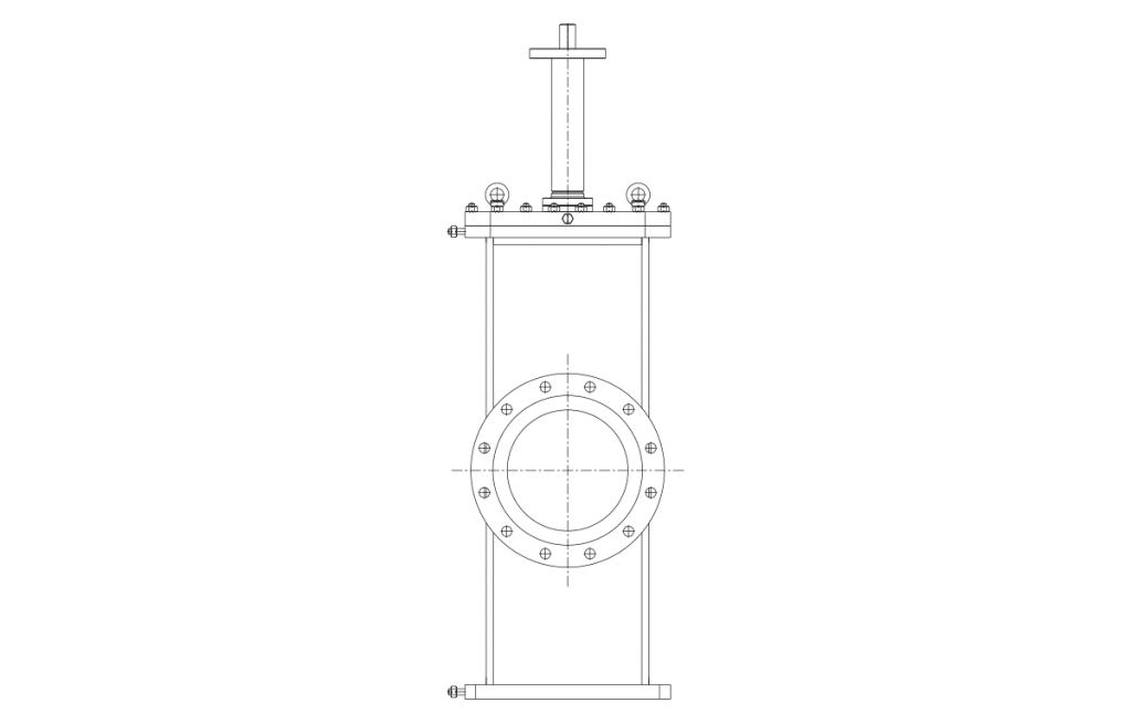 Gate Valves - E50B Technical Drawing - Vastas