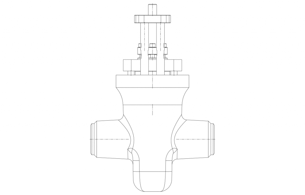 Gate Valfler - E50P Teknik Çizim - Vastaş