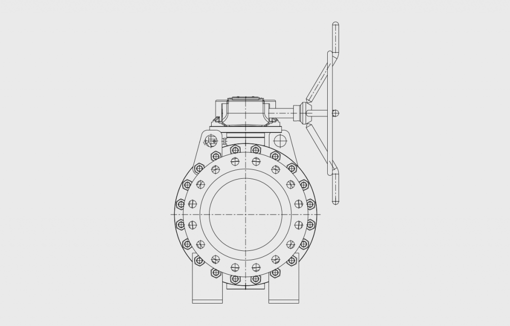 Ball Valves - E603 Technical Drawing - Vastas