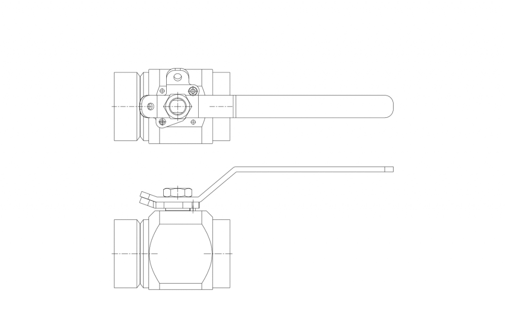 Compact Forged Valves - E604 Technical Drawing - Vastas