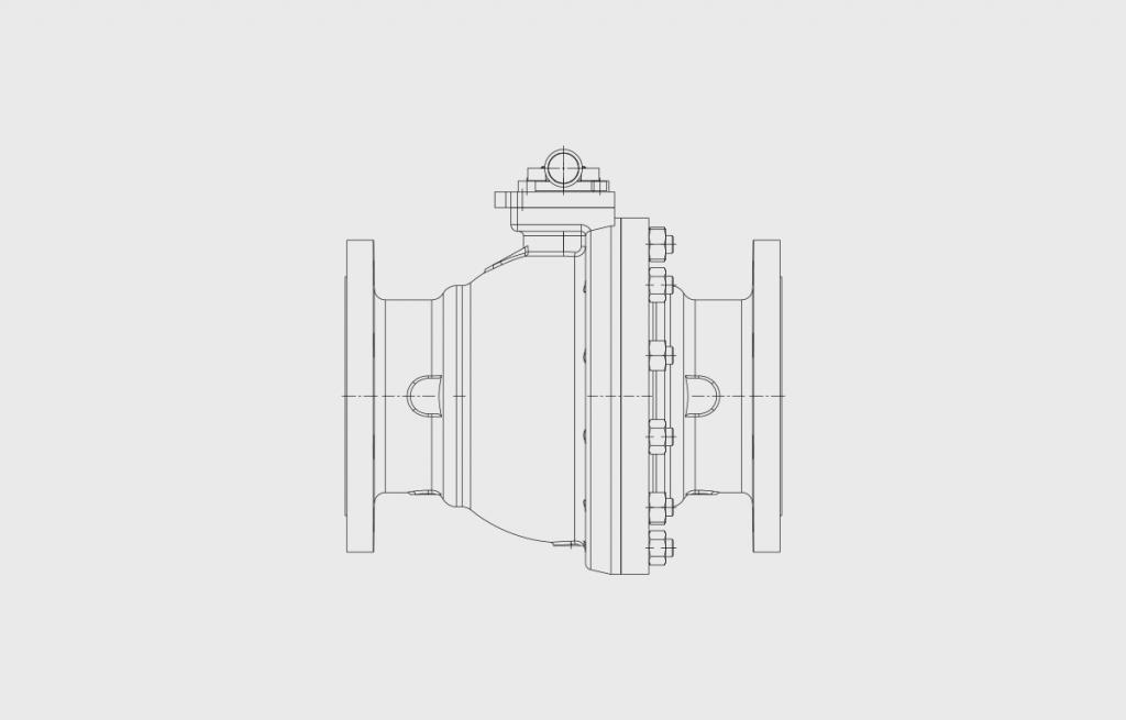 Küre Valfler - E607 Teknik Çizim - Vastaş