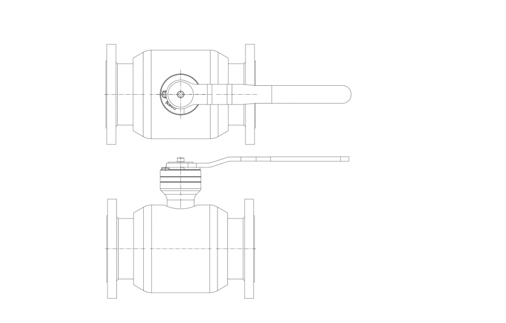 Compact Forged Valves - E60K Technical Drawing - Vastas