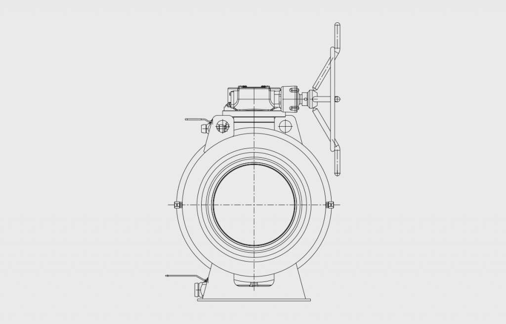 Ball Valves - E60L Technical Drawing - Vastas