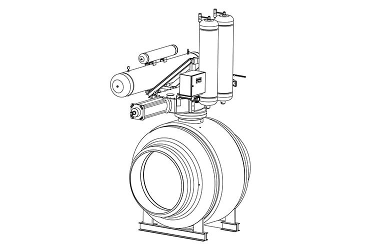 Ball Valves - E60M Technical Drawing - Vastas