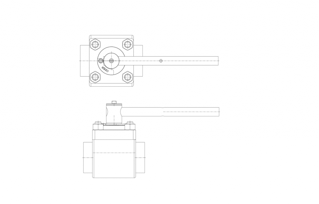 Compact Forged Valves - E60T Technical Drawing - Vastas