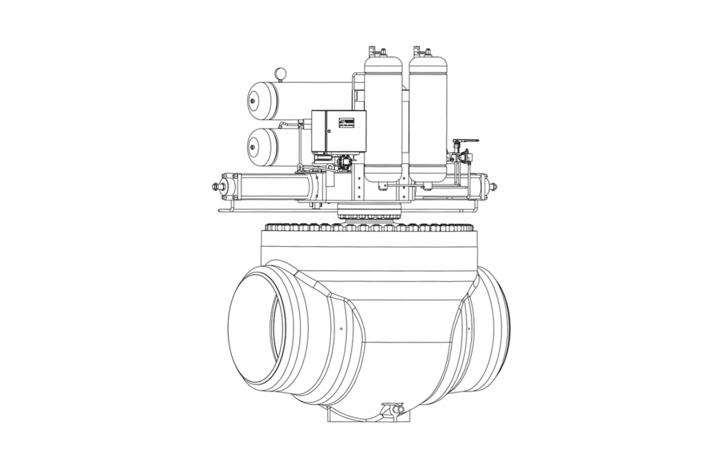 Ball Valves - E60T Technical Drawing - Vastas