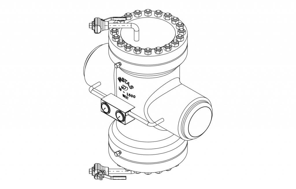 Tailor Made Valves - E701 Technical Drawing - Vastas