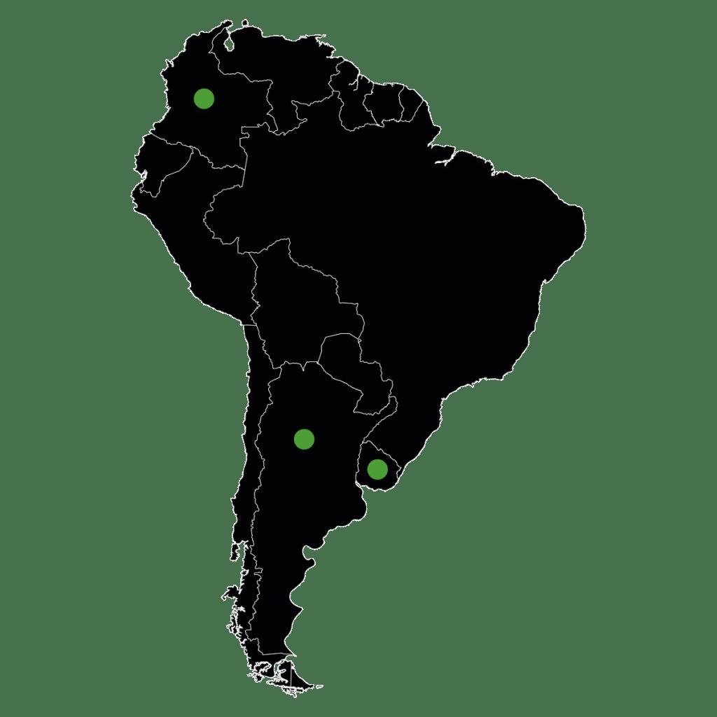 Güney Amerika Harita - Güney Amerika Referanslar - Vastaş